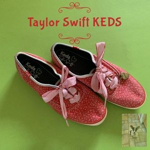 Red KEDS Taylor Swift collab sneakers size 6.5